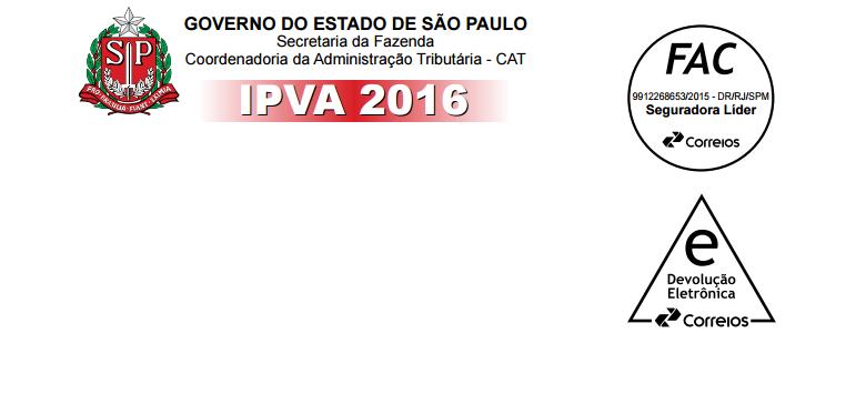 IPVA para veículos com placa final 1 vence dia 11/01