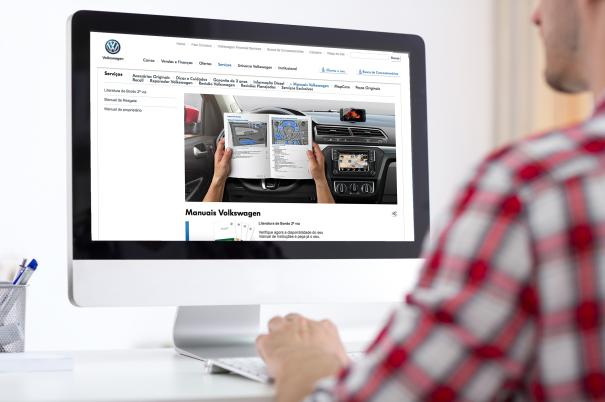 Volkswagen oferece versão on-line dos manuais de seus veículos