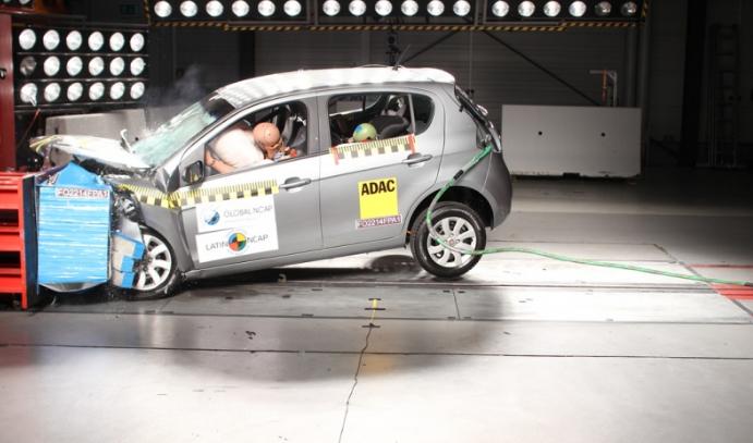 Novo Palio obtém só uma estrela na avaliação do Latin NCAP