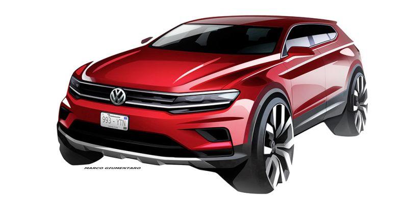 VW Tiguan Allspace fará estreia mundial no Salão de Detroit