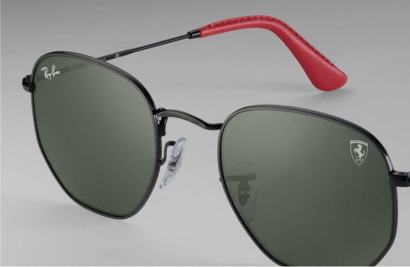 8ed08c77e Crédito: Divulgação. A Ray-Ban lançou uma linha de óculos escuros para a  Escuderia Ferrari. Ao todo foram seis modelos