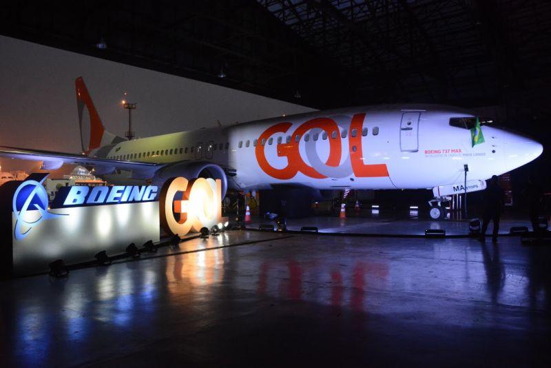 Novo avião da Gol é apresentado em São Paulo
