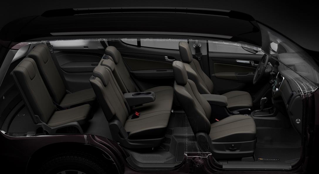 Chevrolet Trailblazer oferece espaço e conforto para sete passageiros sem abrir mão da capacidade off-road