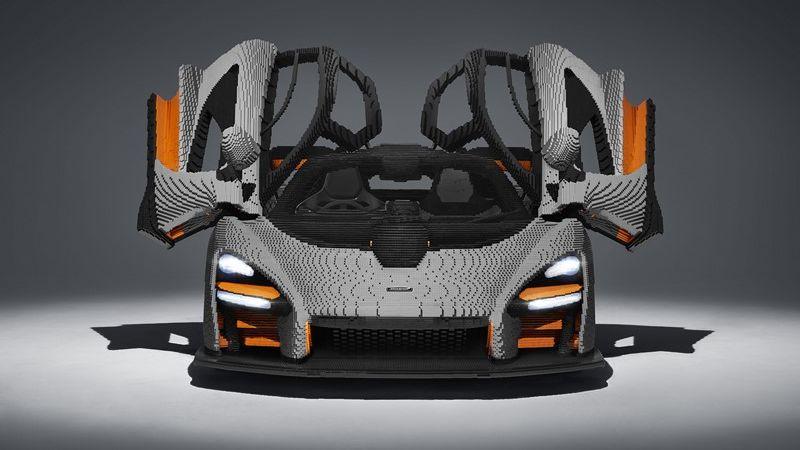 McLaren Senna ganha réplica em tamanho real feita com peças da Lego