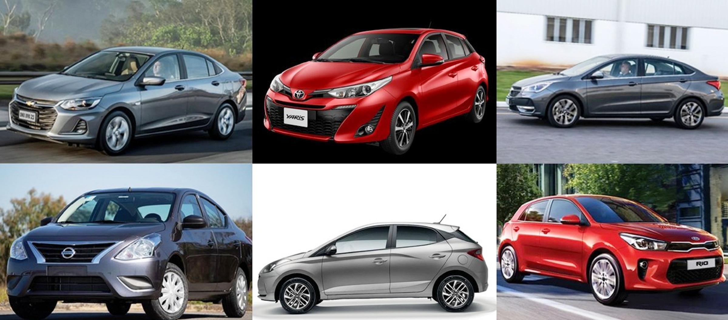 10 carros automáticos por até R$ 85 mil