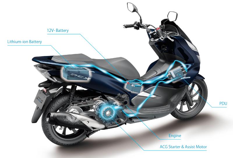 amos conhecer as opções de motos Honda e Yamaha híbridas * que estão no mercado e que, quem sabem, também cheguem logo mais ao Brasil