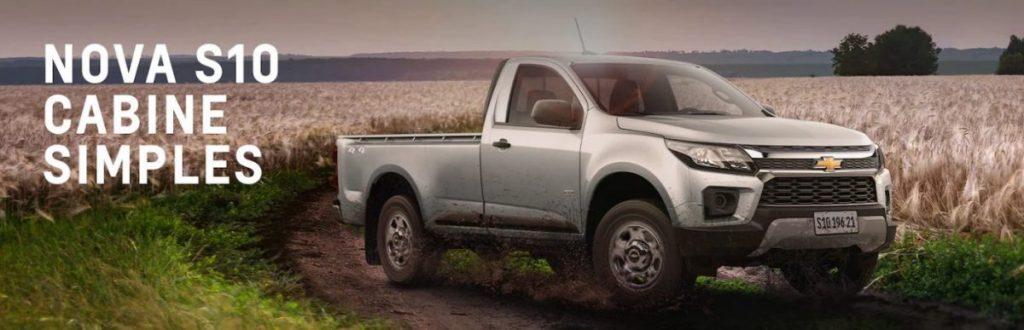 modelos oferecidos da Chevrolet S10 linha 2022 têm opões de cabine simples