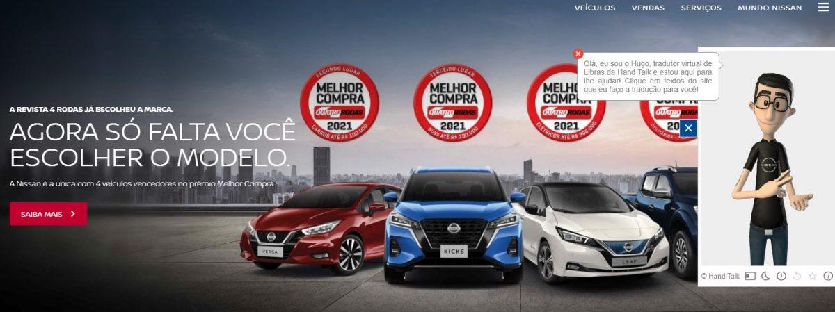 Dia Nacional de Luta da Pessoa com Deficiência: site da Nissan agora em Libras
