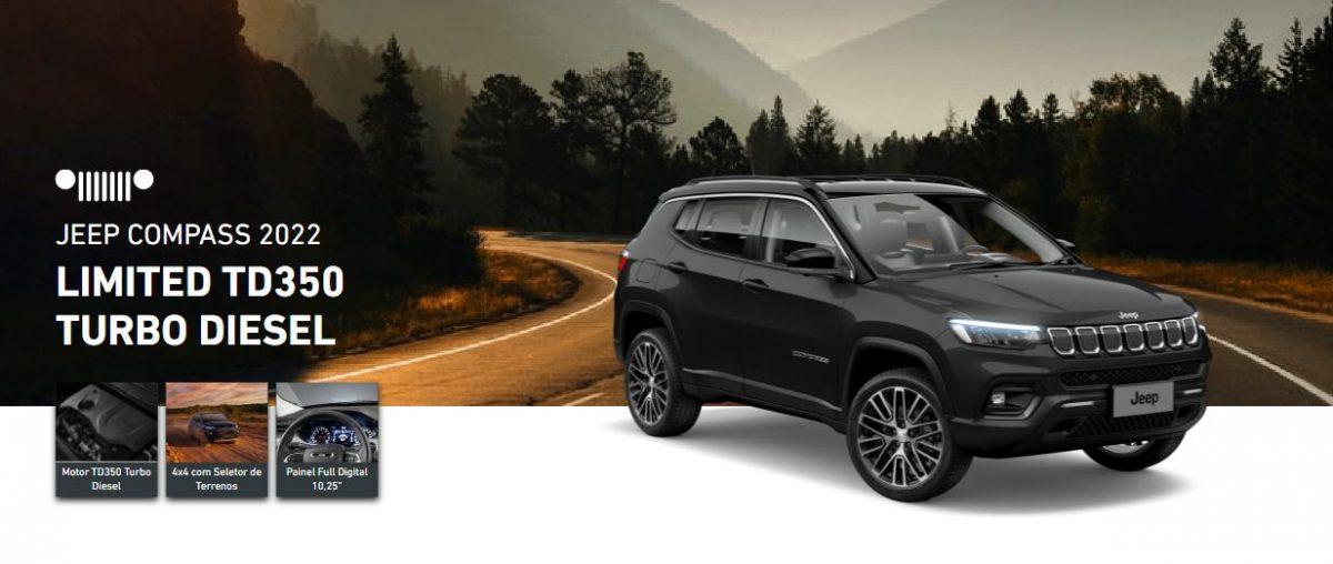Jeep Compass Limited é uma das versões linha 2022