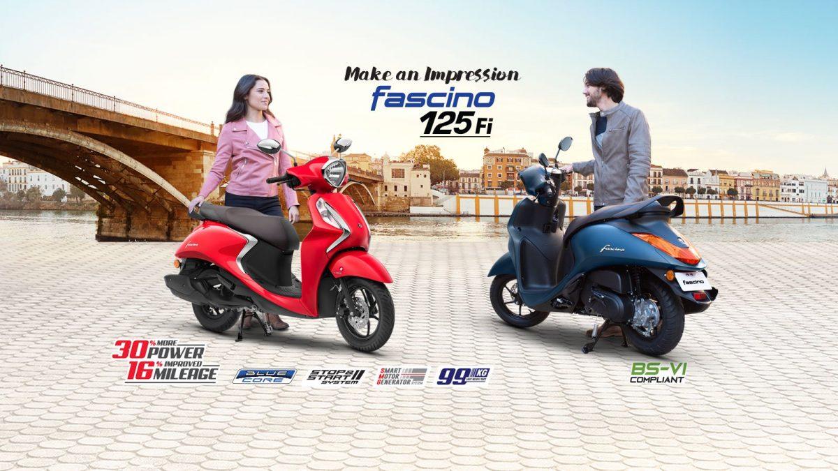 Yamaha lançou na Índia a scooter híbrida que vem com motor de partida inteligente