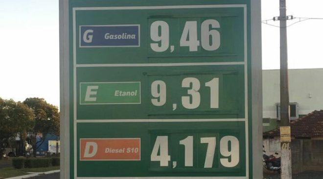 Gasolina passa dos R$ 9 em Curitiba